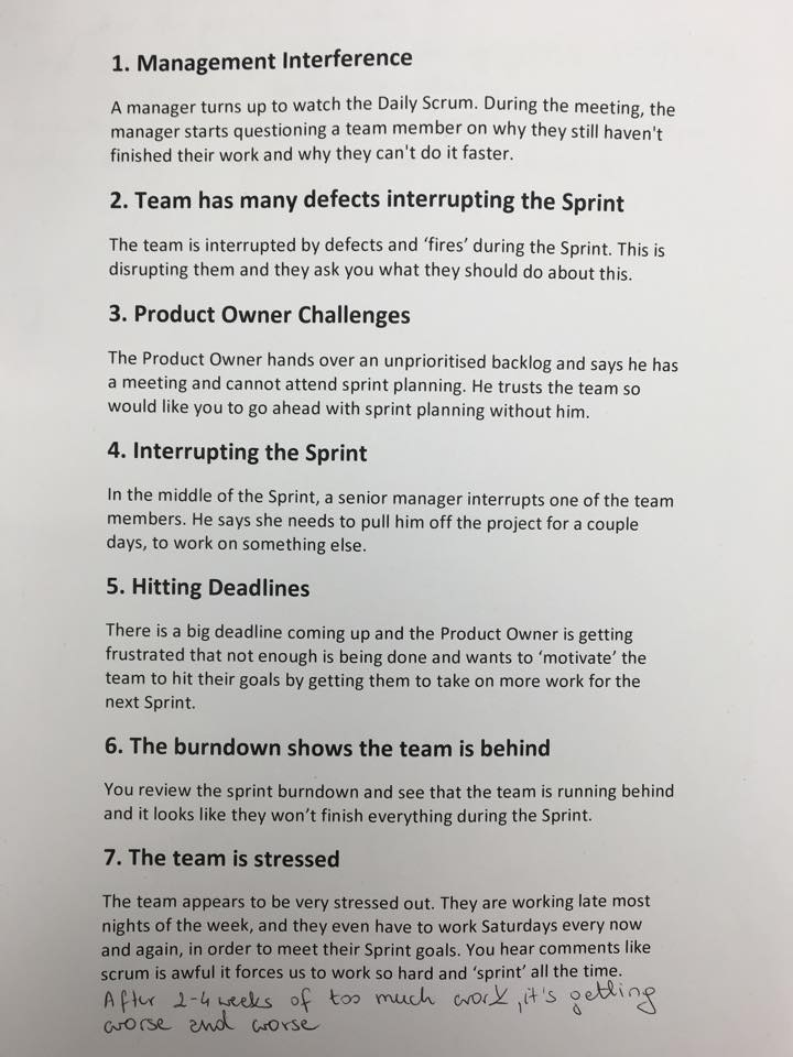 scrum homework