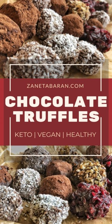 Keto Chocolate Truffles Pinterest
