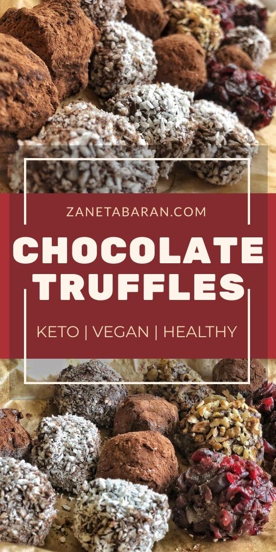 Keto Chocolate Truffles Pinterest