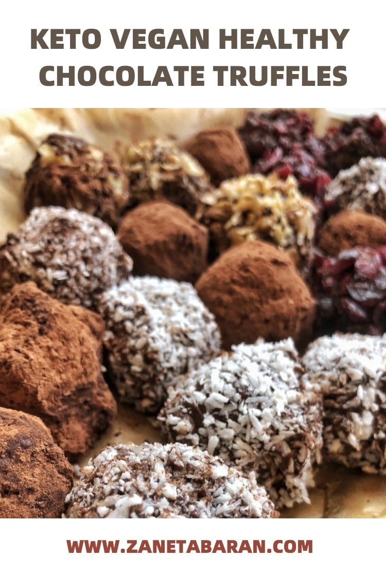Keto Truffles Healthy Chocolate Pinterest