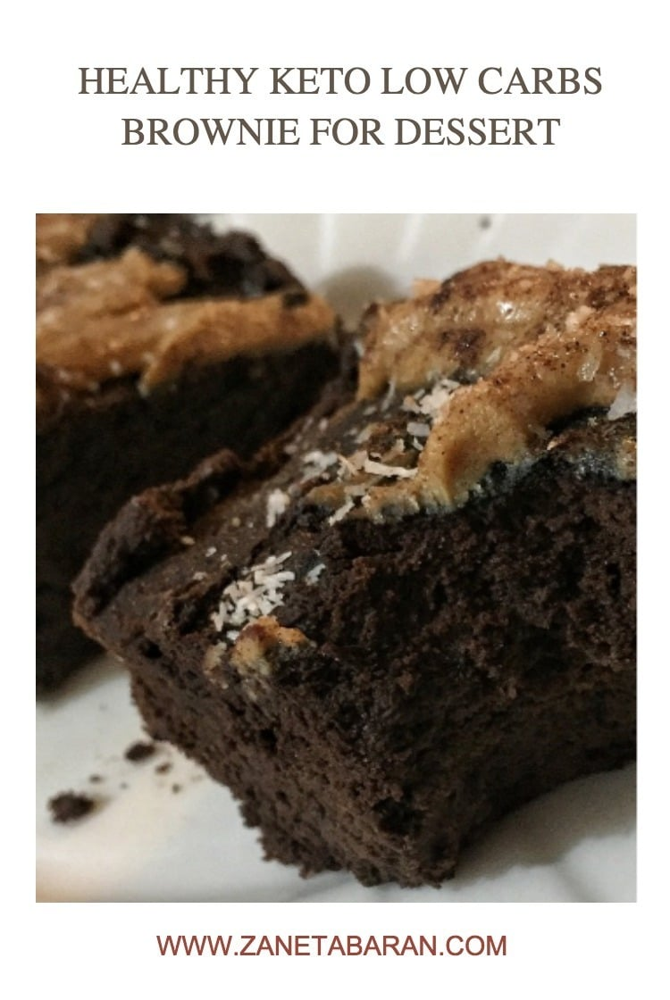 Pinterest 1 Healthy Keto Low Carbs Brownie For Dessert