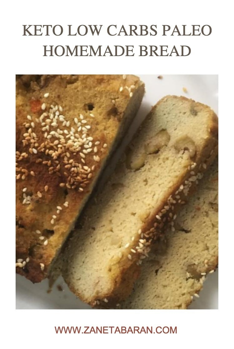 Pinterest 1 Keto Low Carbs Paleo Homemade Bread