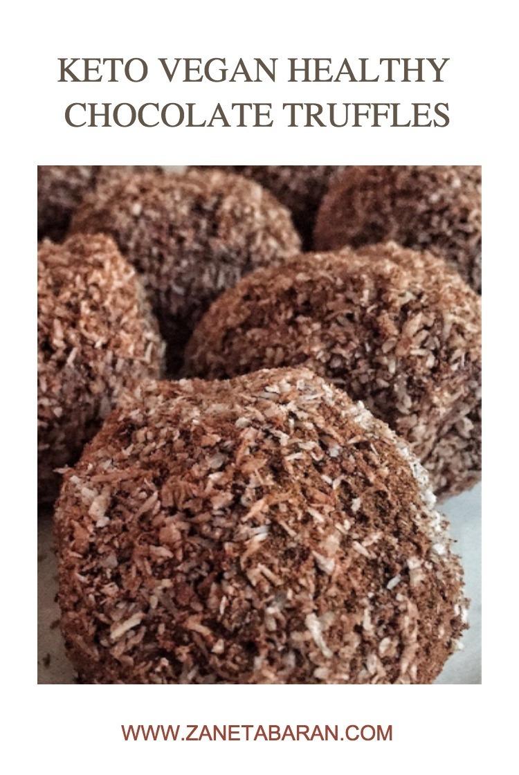 Pinterest 1 Keto Vegan Healthy Chocolate Truffles