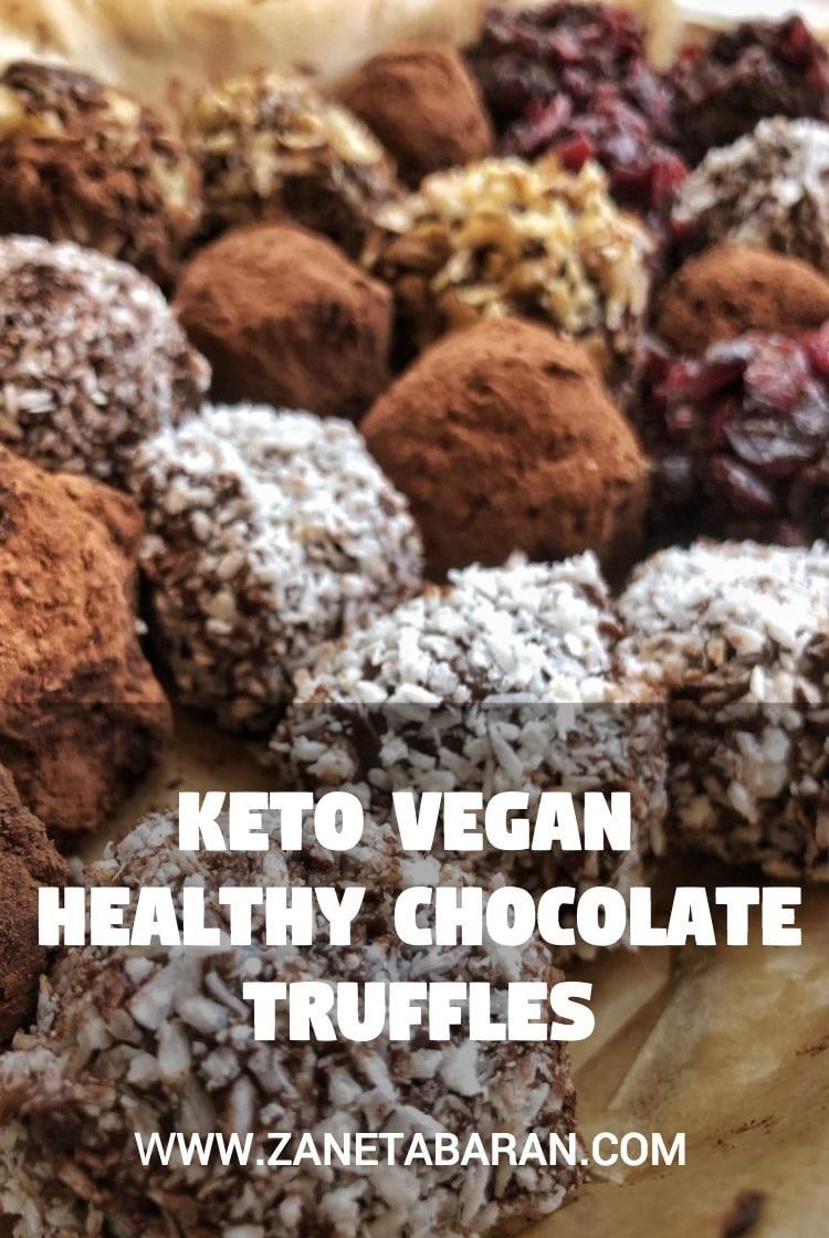 Truffles Chocolate Keto Vegan Pin