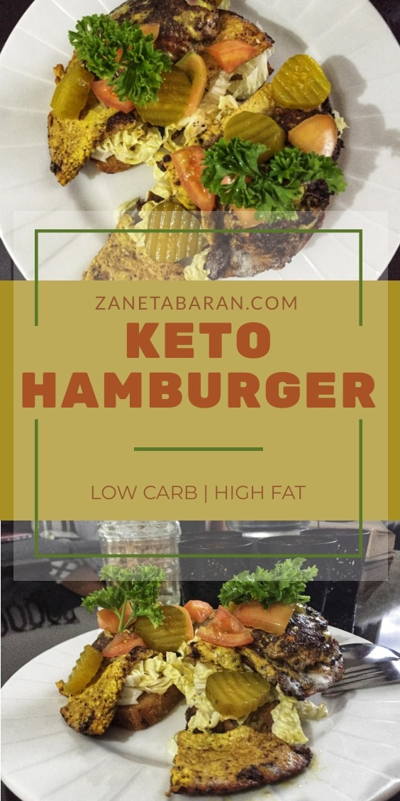 Keto Hamburger Dinner