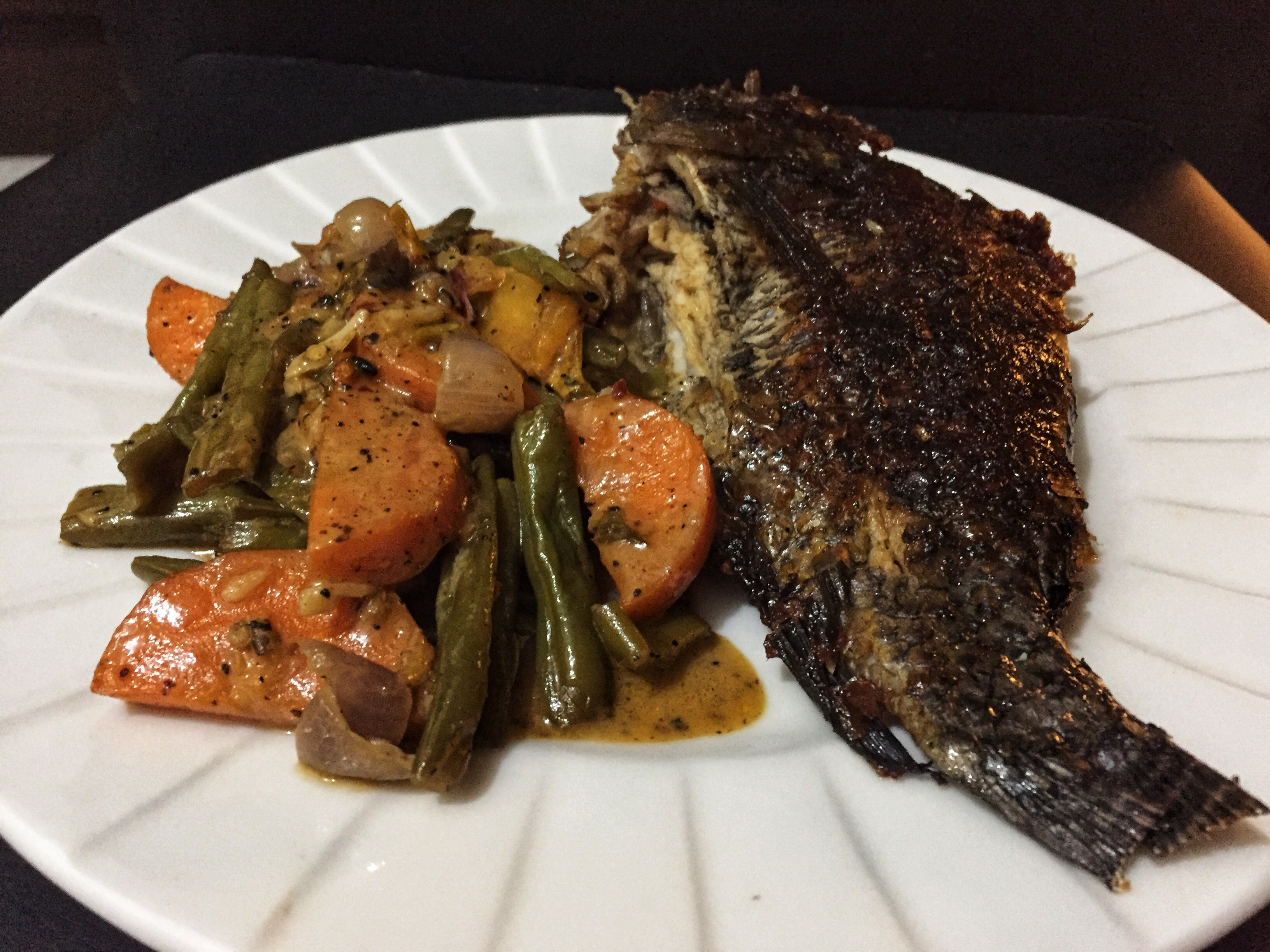 Keto Low Carbs High Fat Tilapia For Dinner