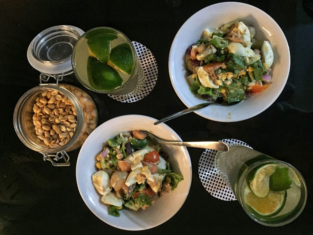 Healthy Keto Vegetarian Salad For Quick Breakfast, Lunch And Dinner