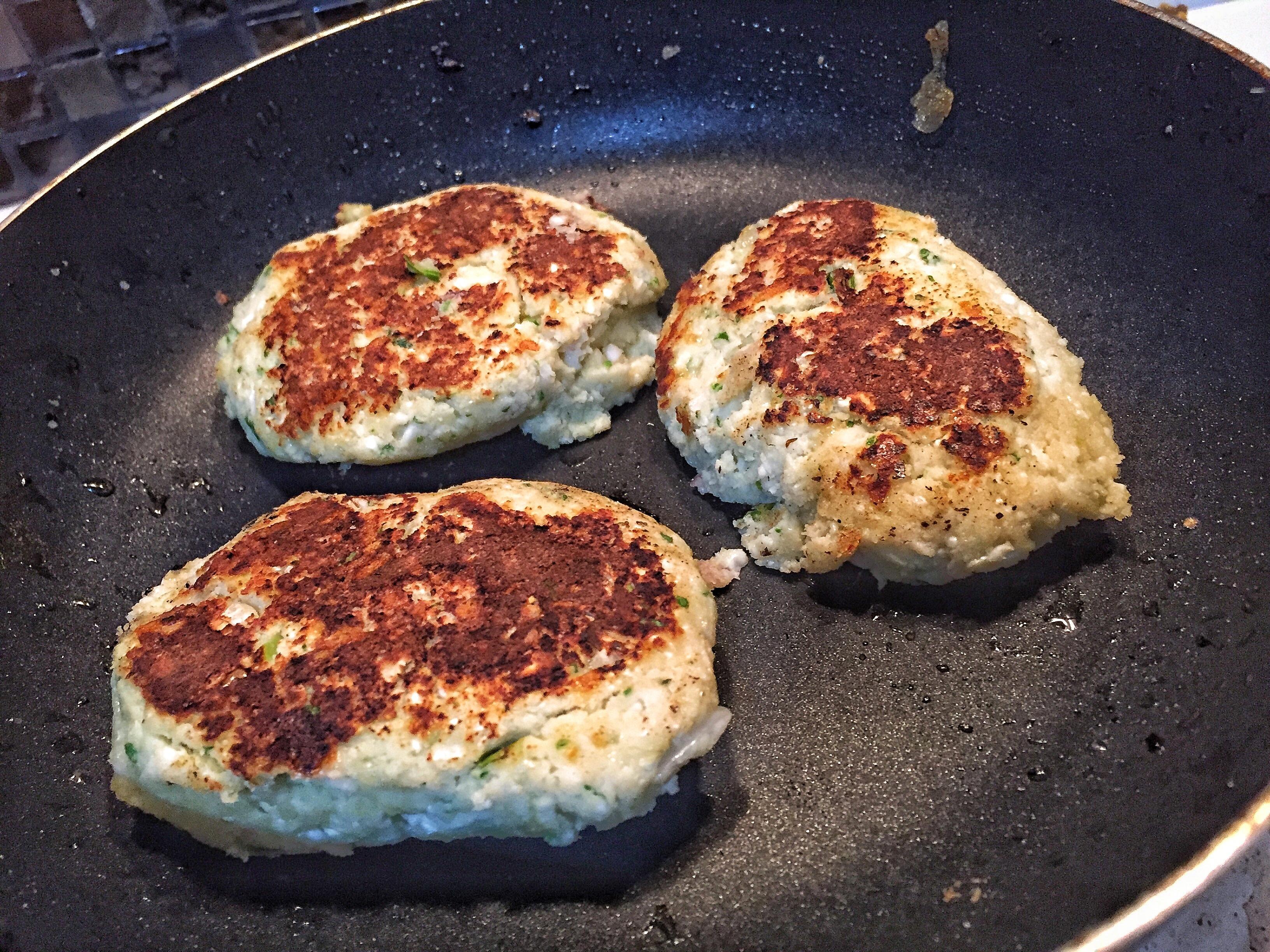 Fry Cauliflower Broccoli