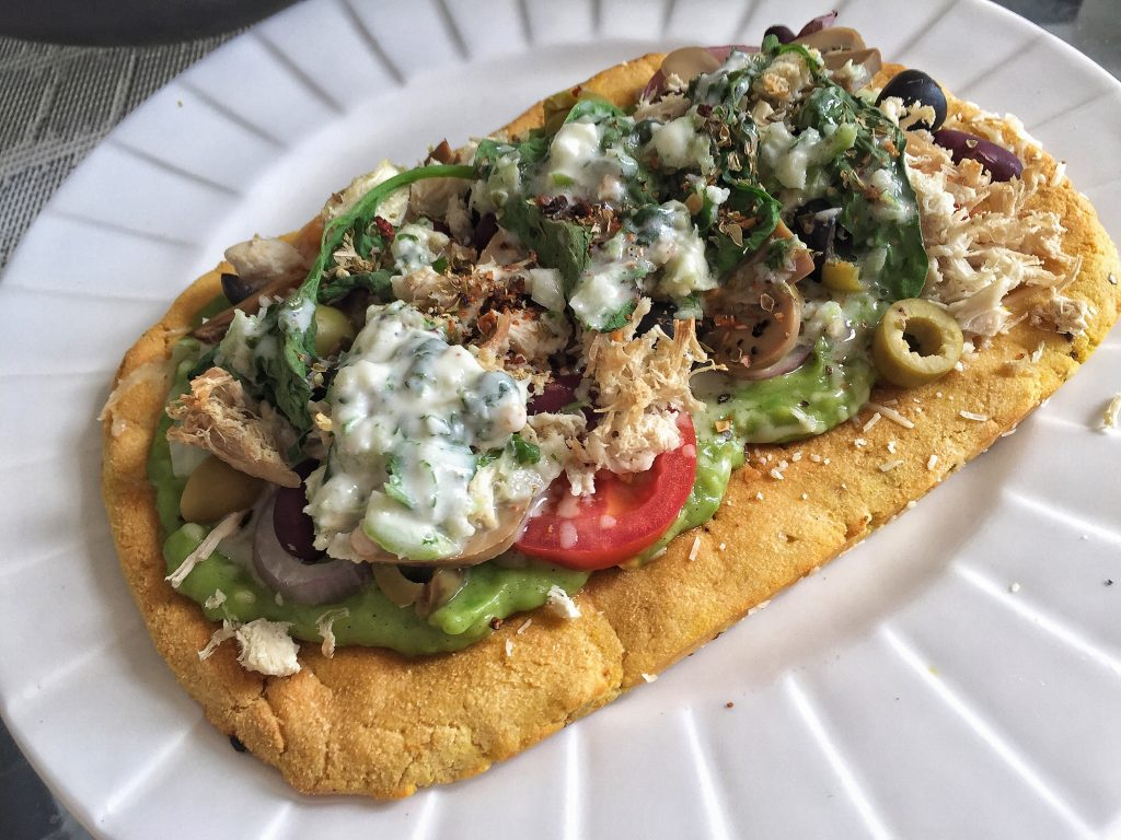 Keto Pizza Vege Chicken