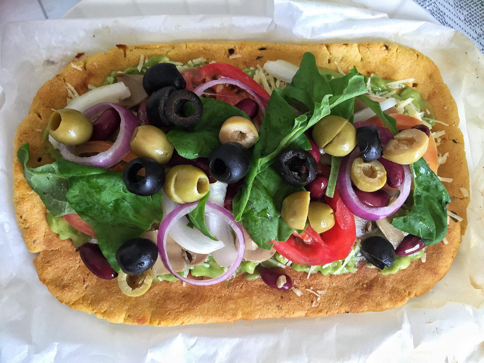 Keto Pizza Vegetables Dinner