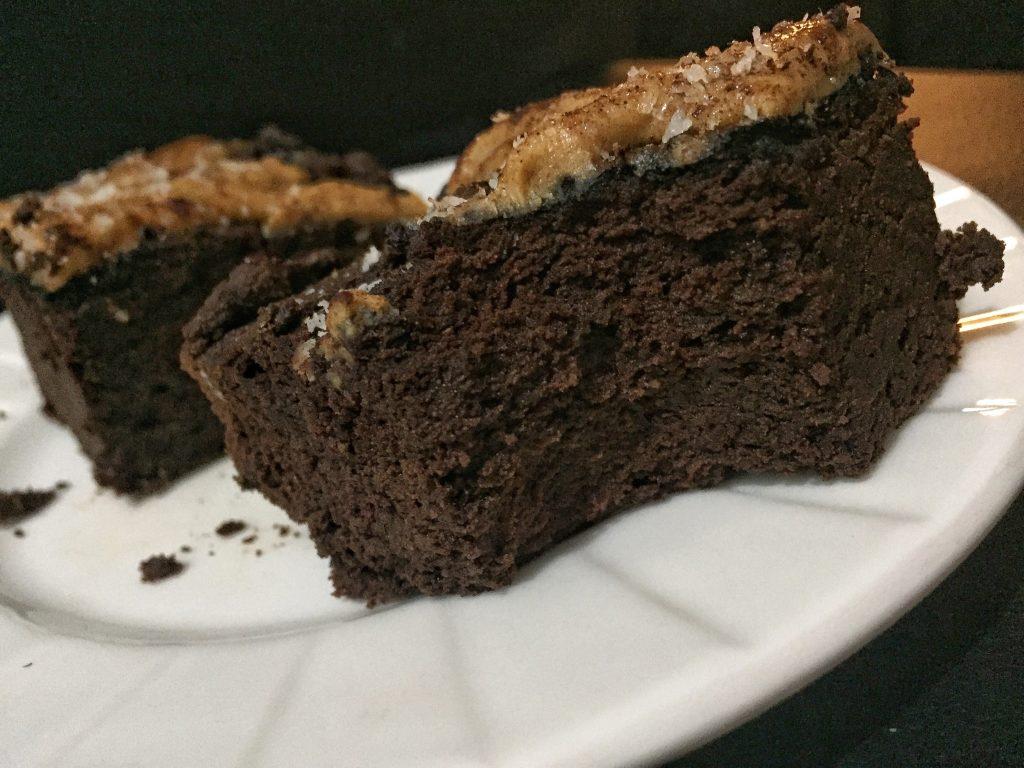 Pieces Avocado Brownie Low Carbs High Fat