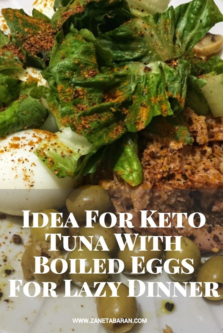 Pinterest Idea For Keto Tuna With Boiled Eggs For Lazy Dinner