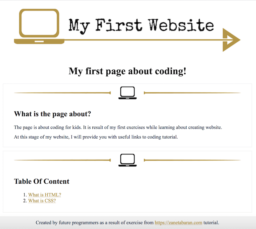 Coding Classes For Kids Design How To Create My First Website