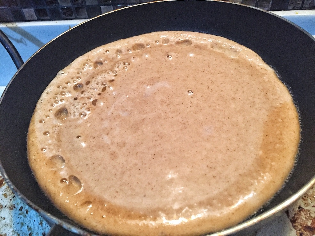 Healthy Low Carbs Protein Pancake With Four Ingredients Only For Dessert