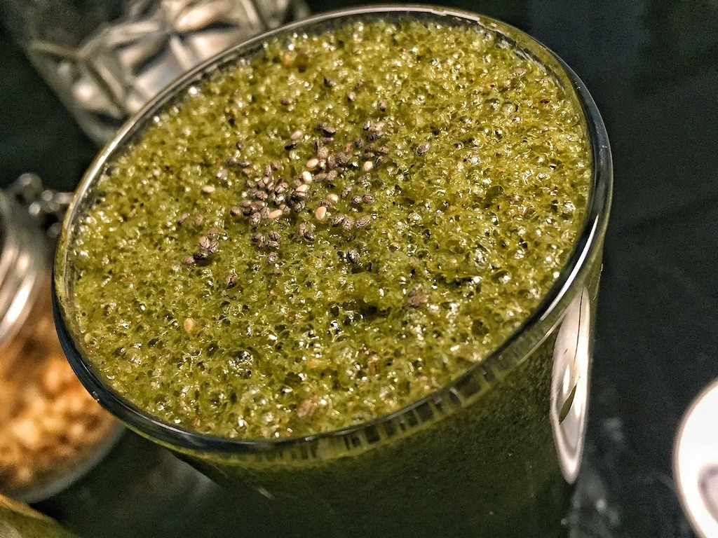 Healthy Sweet Green Smoothie With Vegetables