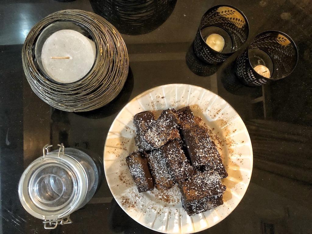 Chocolate Coconut Bars READY