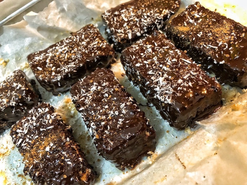 Chocolate Coconut Bars Pre