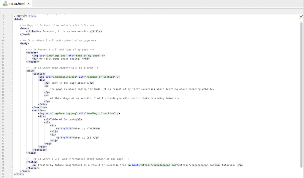Coding Classes Final HTML Code After HTML Class