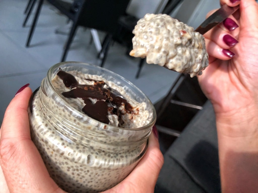 Healthy Keto Chia Seeds Pudding Based On Coconut Milk And Peanut Butter The Best