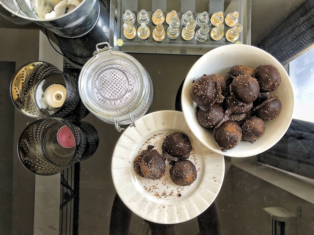 Healthy Keto Vegan Peanut Butter Coconut Flour Chocolate Truffles Party Snack Idea