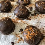 Healthy Keto Vegan Peanut Butter Coconut Flour Chocolate Truffles With No Sugar Ready
