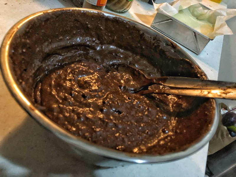 Healthy Paleo Keto No Diary Low Carbs No Sugar Avocado Chocolate Brownie Mixture