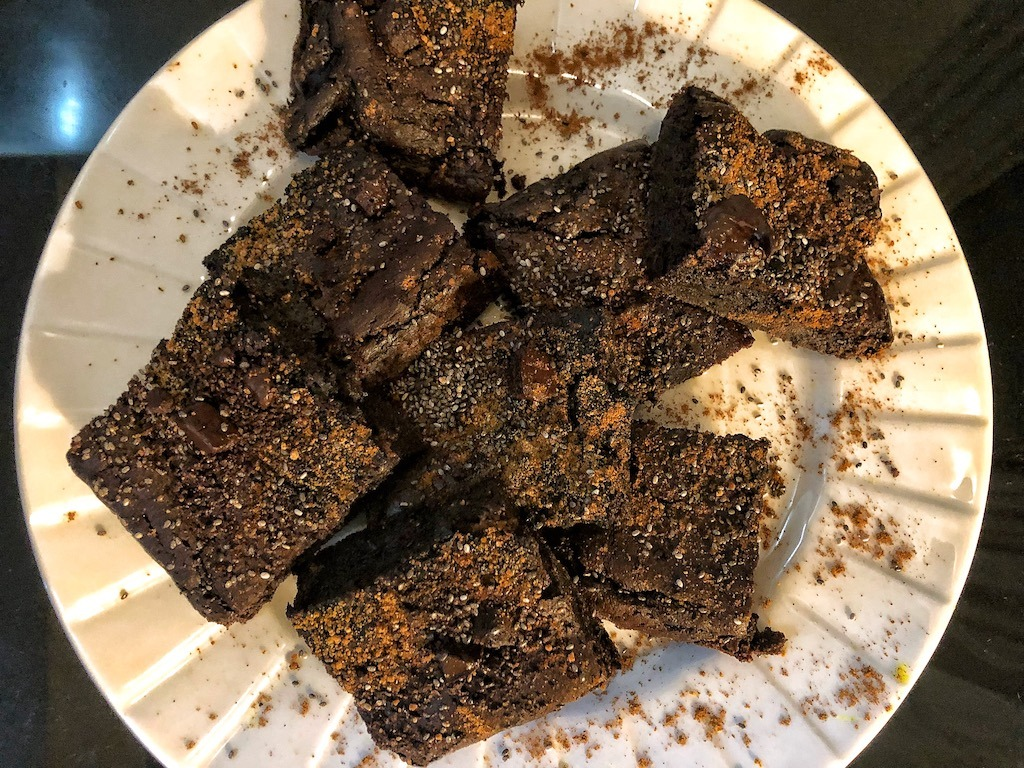 Healthy Paleo Keto No Diary Low Carbs No Sugar Avocado Chocolate Brownie Snacks