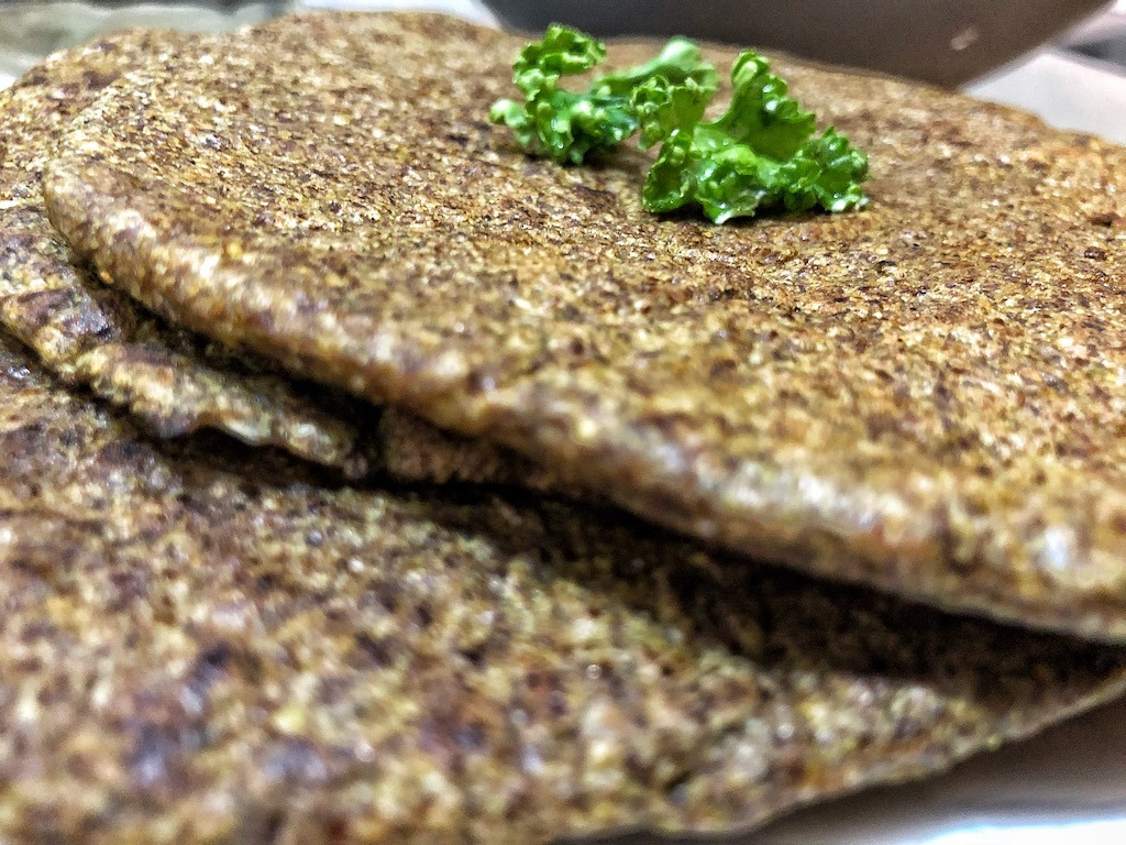 Healthy Vegan Gluten Free Keto Low Carbs Flaxseed Wraps Or