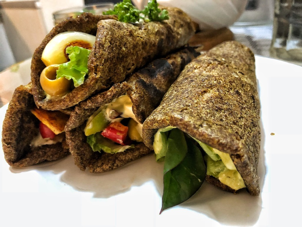 Healthy Vegan Gluten Free Keto Low Carbs Flaxseed Wraps Or Spring Rolls