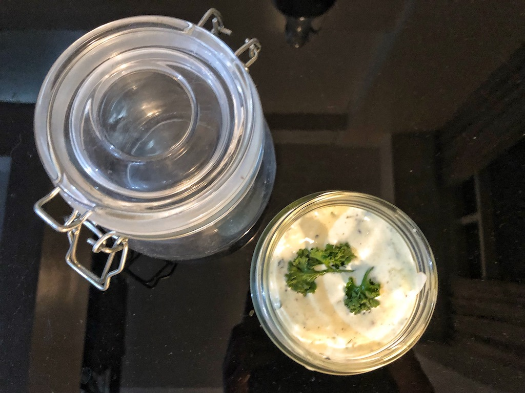 Homemade Healthy Keto Ricotta Cheese Dip Or Spread Party Set