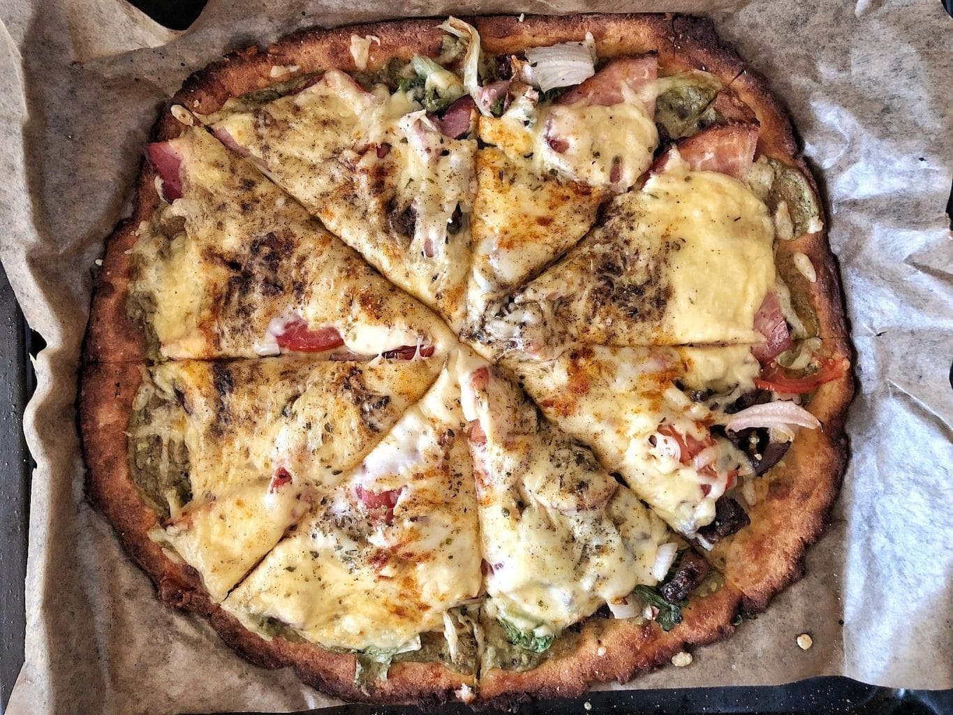 Keto Fathead Coconut Flour Beef Chicken Pizza