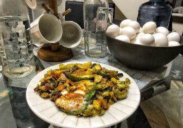Keto Vegetarian Egg Avocado Grilled Zucchini