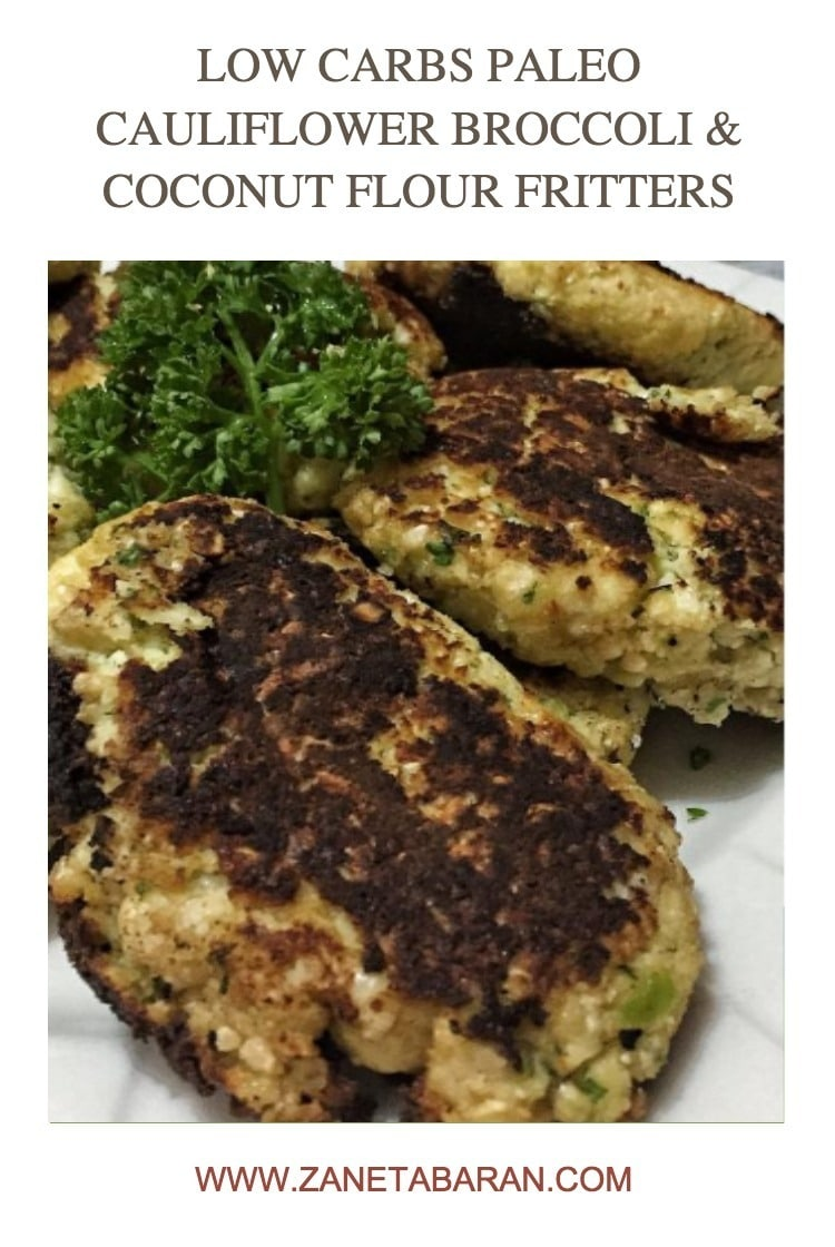 Pinterest 1 Low Carbs Paleo Cauliflower Broccoli Coconut Flour Fritters
