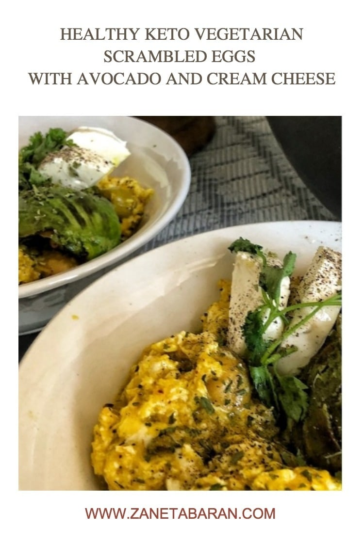 Pinterest 1 Healthy Keto Vegetarian Scrambled Eggs With Avocado And Cream Cheese