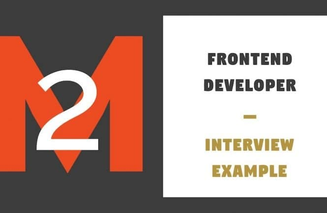 Frontent Developer Interview Example