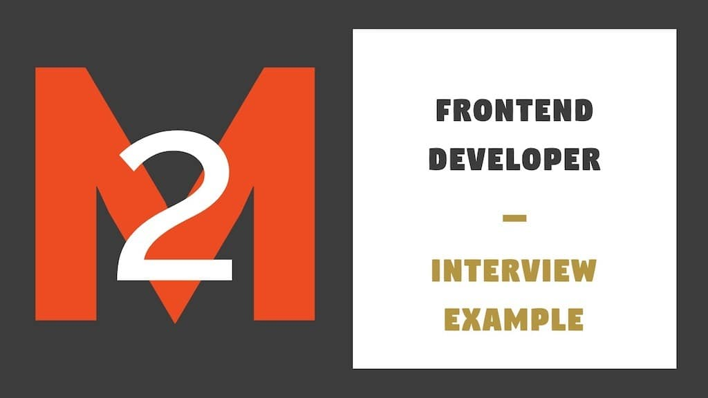 Frontent Developer Interview Example