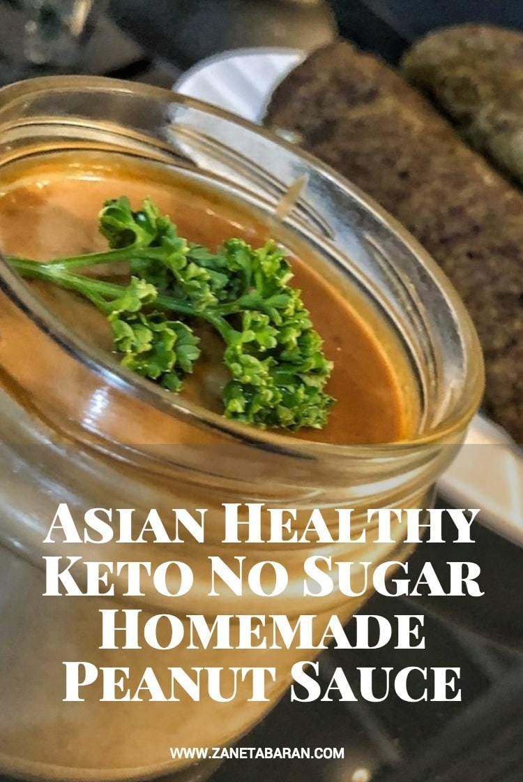 Pinterest Asian Healthy Keto No Sugar Homemade Peanut Sauce
