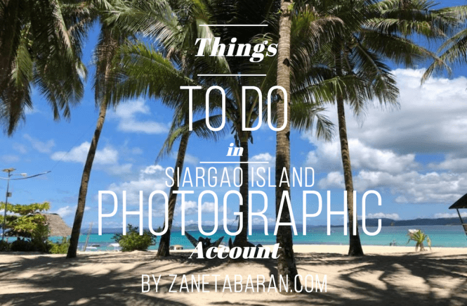 Things To Do Photo Siargao