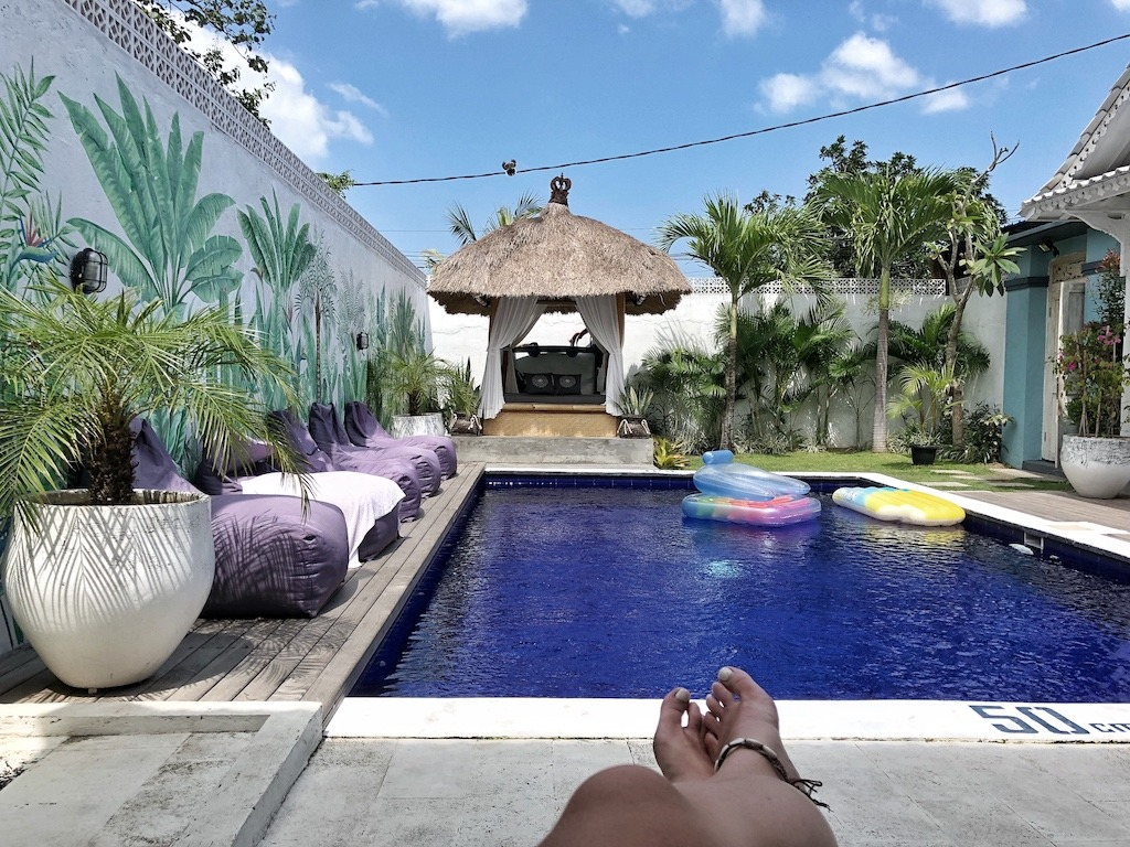 Hostel Recommendation While Travelling to Canggu – Gypsy Moon Bali Swimming Pool Relax