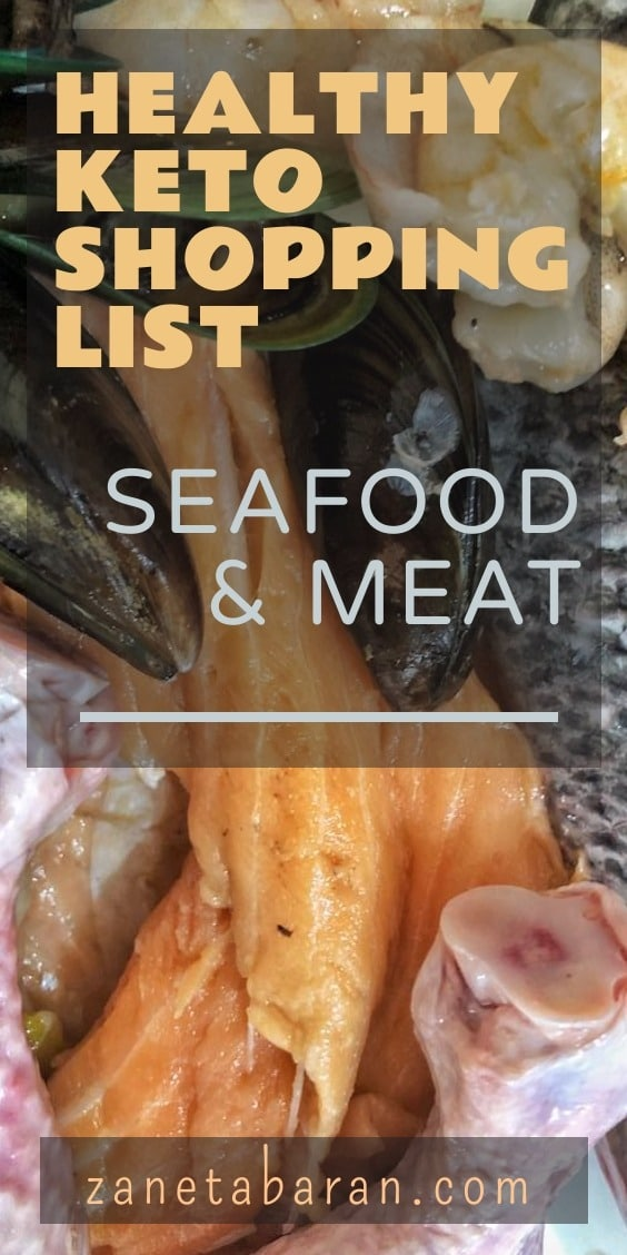 MUST-HAVES IN MY KITCHEN ON HEALTHY DIET – MY HEALTHY KETO SHOPPING LIST SEAFOOD & MEAT