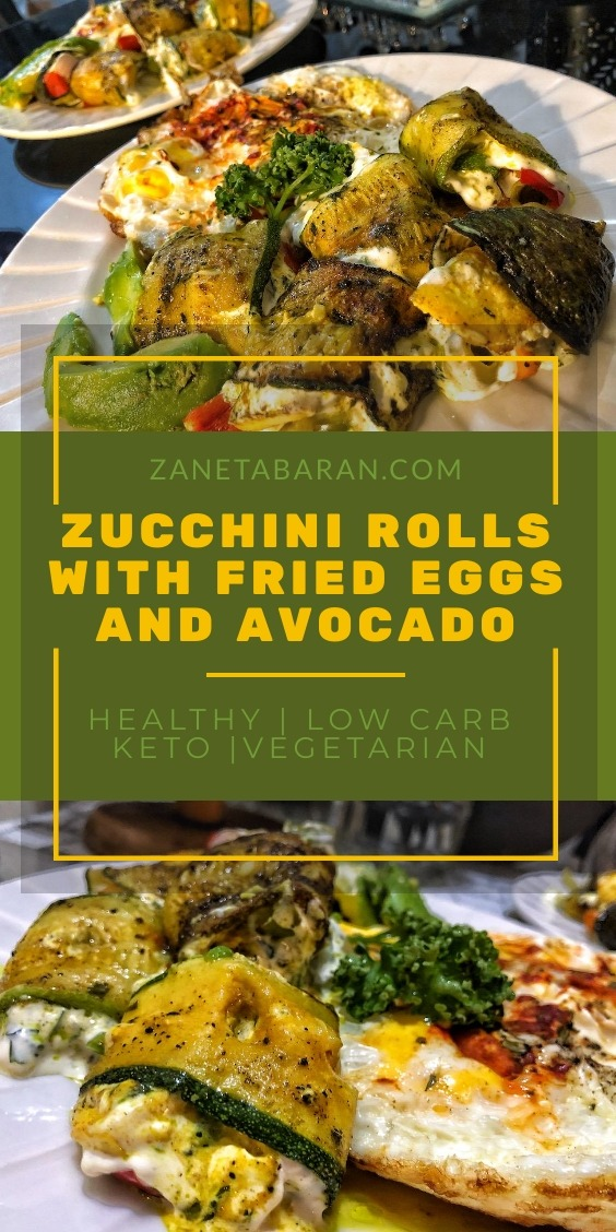 Zucchini Rolls With Eggs