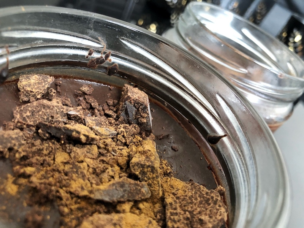 Homemade Quick Healthy Keto No Sugar Chocolate In Jar Valentines Dessert