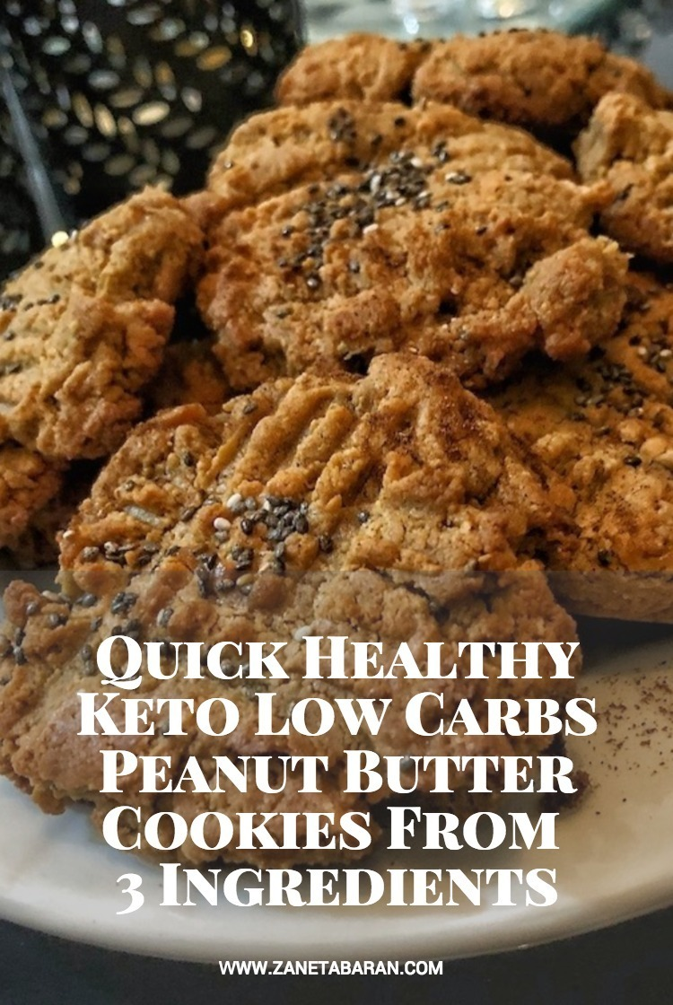 Pinterest Quick Healthy Keto Low Carbs Peanut Butter Cookies From 3 Ingredients