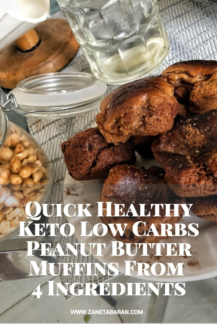 Pinterest Quick Healthy Keto Low Carbs Peanut Butter Muffins From 4 Ingredients