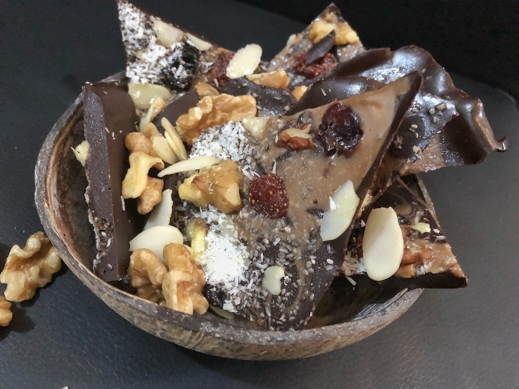 Dark Chocolate Pieces - Homemade Healthy Keto Quick Dessert Christmas Gift