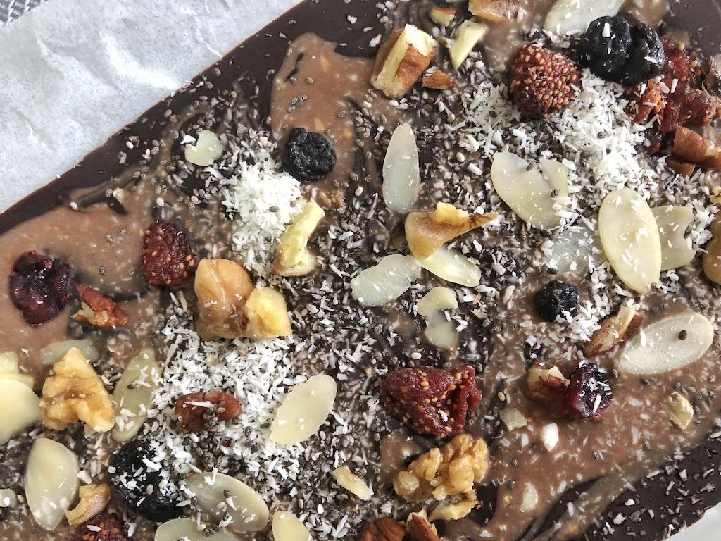 Dark Chocolate Pieces - Homemade Healthy Keto Quick Dessert For Kindergarden