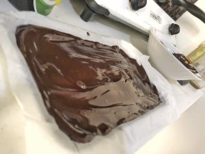 Dark Chocolate Pieces - Homemade Healthy Keto Quick Dessert Step 5