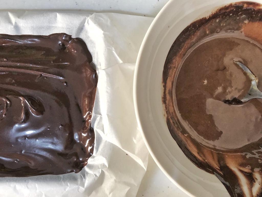 Dark Chocolate Pieces - Homemade Healthy Keto Quick Dessert Step 7