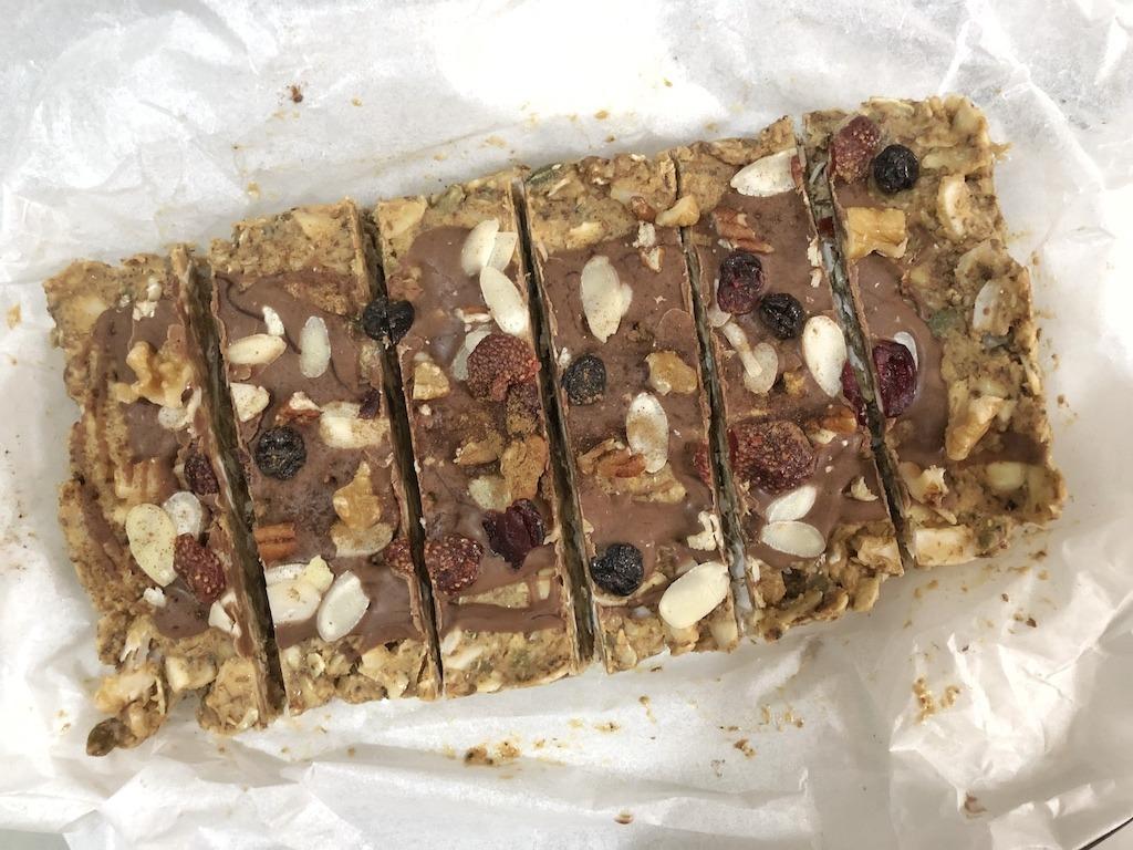 Granola Bar - Homemade Vegan Paleo Keto No Sugar Quick Snack Bars