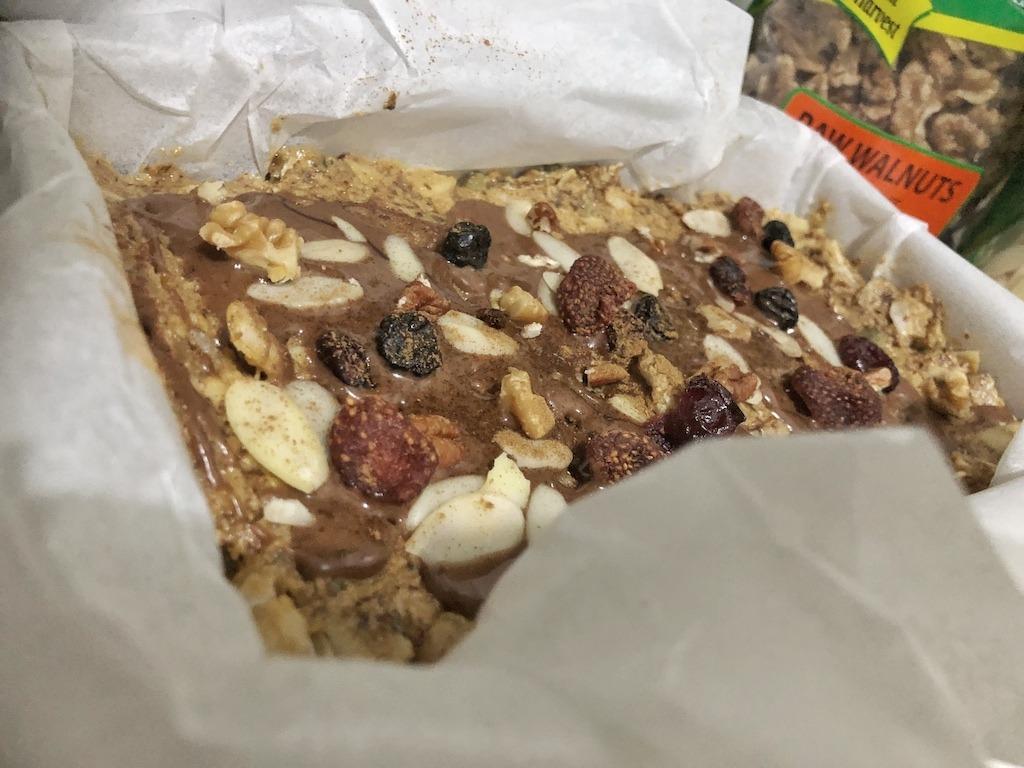 Granola Bar - Homemade Vegan Paleo Keto No Sugar Quick Snack Christmas Idea
